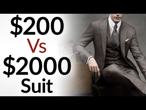 $200 Vs $2000 Men's Suit | 5 Differences Between Low & High Quality Suits | Cheap Vs Expensive