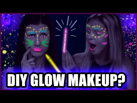 DIY BLACKLIGHT MAKEUP with Colored Pencils?! - Makeup Mythbusters w/ Maybaby & Jordyn Jones