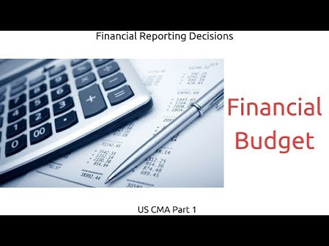 Financial Budget | Financial Reporting Decisions| US CMA Part 1| US CMA course | US CMA Exam