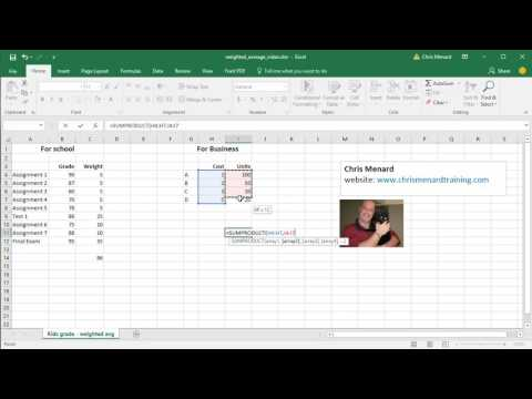 How to calculate the weighted average in Excel by Chris Menard
