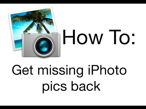 Get missing iPhoto pics back