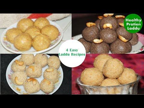 4 easy Ladoo Recipes in telugu  Amma Kitchen- Latest Sweet Recipes