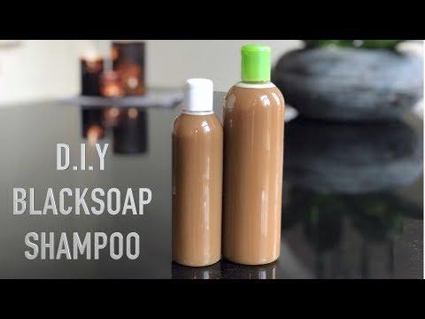 African Black Soap Shampoo || Bar to Liquid Black Soap DIY || Adede