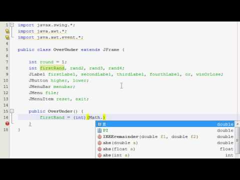 Java GUI Tutorial 24 - Higher/Lower guessing game (Part 1 of 4)