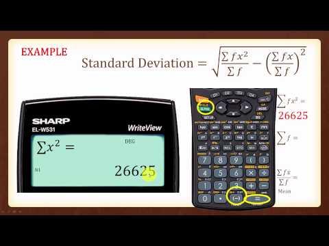 Standard Deviation SHARP W531