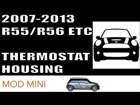 How to Replace Coolant Thermostat Housing MINI Cooper R56 2007-2013
