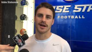 Boise State receiver Thomas Sperbeck on his mustache and his senior season