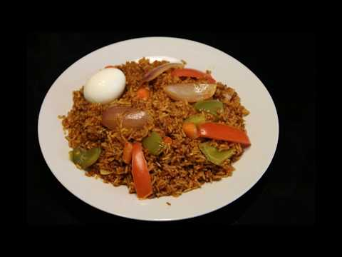 Ghana Jollof Rice. (corned beef and vegetable Jollof) #food