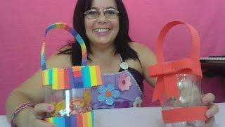 lembrança Dia das Crianças e natal- com garrafa pet e eva- Aleyr Azeredo