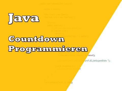 Java Countdown Programmieren | Tutorial