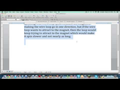 How to make font size bigger (microsoft word) on a mac