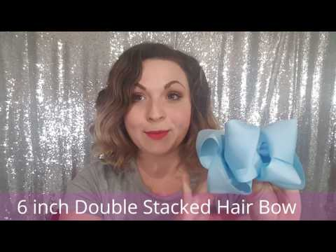 6 Inch Double Stacked Hair Bow