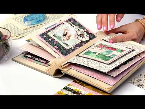 How to Create a Vintage Mini Album with the Flourish Collection by Maggie Holmes