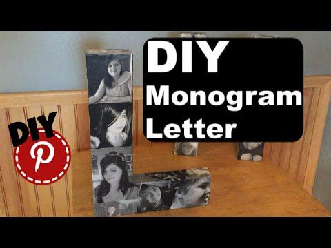 DIY Photo Monogram Letter