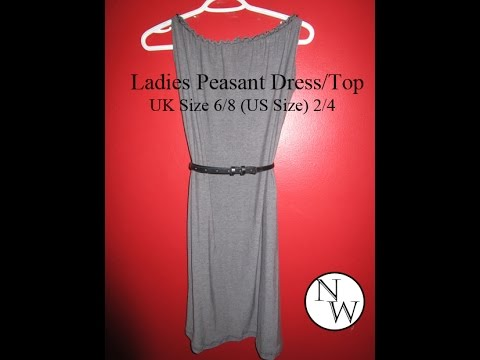 Ladies Peasant Dress/Top | UK size 6/8 Tutorial
