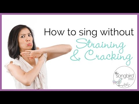 Singing Tutorial: How to Sing Without Cracking or Straining