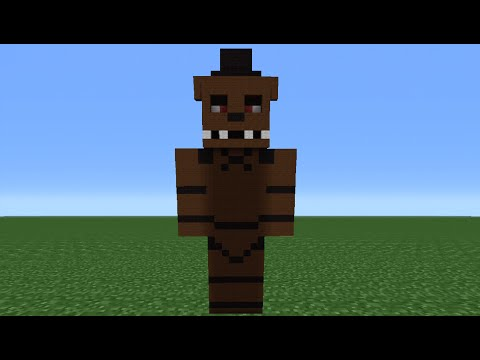 Minecraft Tutorial: How To Make A Freddy Statue (Five nights at Freddy's)