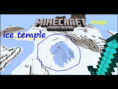 MCPE 1.0.0 -  EPIC SNOW/ICE TEMPLE MAP NEW STRUCTURE UPDATE  IDEA MOJANG PLEASE ADD THIS