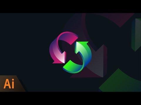 Illustrator Beginner Tutorial: Circular Arrows Logo