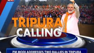 PM addresses election rallies in Tripura