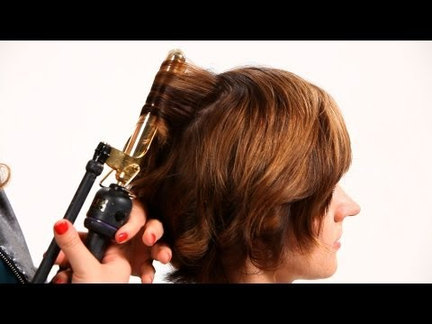 Using Curling Iron on Short Hair Pt. 1 | Short Hairstyles