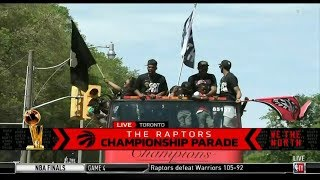 Live on Toronto: The Raptors Championship Parade and rally to celebrate the club's first NBA title