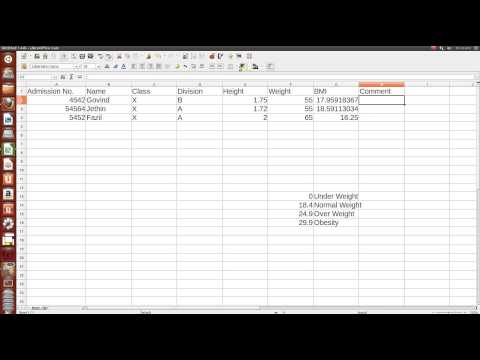 Govind's ICT Tutorial's: #5 Calculating and classifying BMI in Spreadsheet
