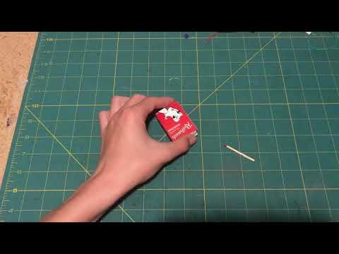 Amazing but simple portable hot glue match sticks