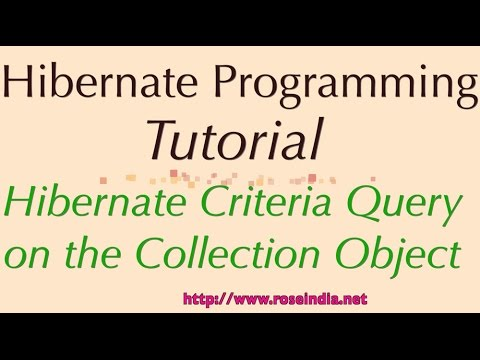 Hibernate Criteria Query on the Collection Object