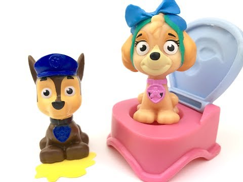 Paw Patrol Full Episodes Potty Training Baby Bath Paint Learn Color Toy Paint Surprise