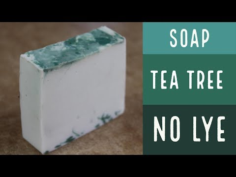 How to Make Essential Oil Soap without Lye Tea Tree Soap / How To Make Soap