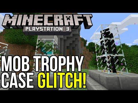 Minecraft PS3: Mob Trophy Case Glitch!