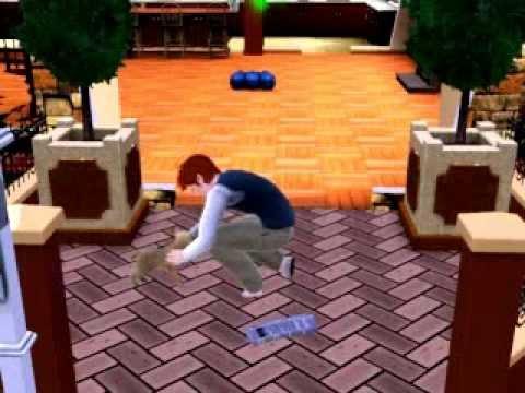 Sims 3 Pets Gameplay: Man Adopting Stray Dog