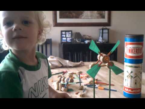Ethan and Tinkertoy windmill