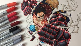 Drawing Monkey D. Luffy Gear 4 - One Piece