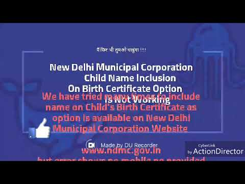 How to add name in birth certificate online new delhi