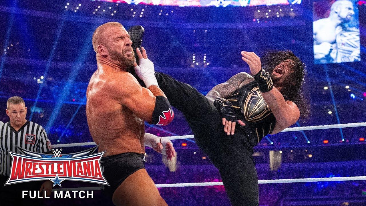 FULL MATCH - Triple H vs. Roman Reigns – WWE World Heavyweight Title Match: WrestleMania 32