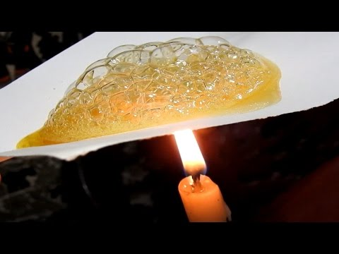 Put a paper with honey on fire & see what happens - आग पर शहद के साथ एक कागज़ रखो और देखो