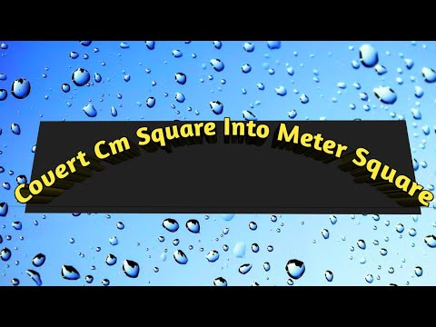 Convert cm square into meter square