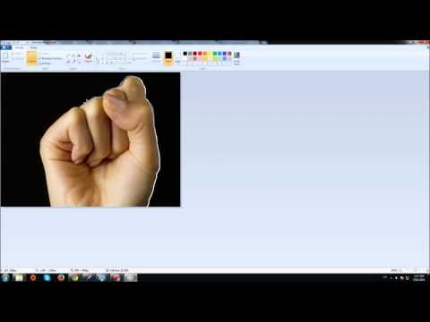 Easy way how to cut out an image in Paint [HD]