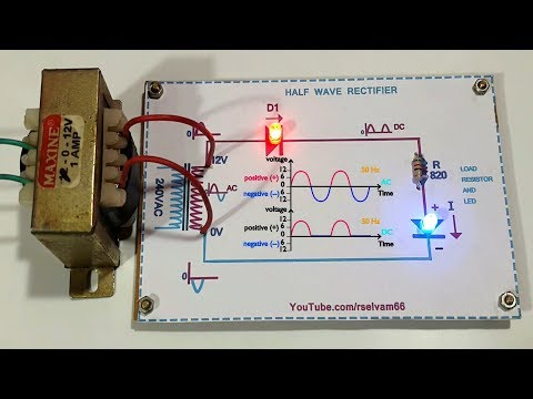 how to work half wave rectifier using led, half wave rectifier working function in Tamil & English