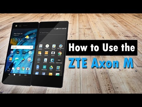 How to Use the ZTE Axon M (The Foldable Dual Screen Smartphone)