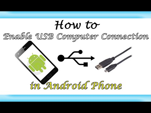 Enable Android Phone USB Computer Connection |Learn Howto|