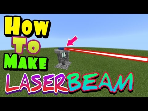 HOW TO MAKE LASER BEAM !!! | Minecraft PE