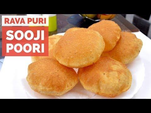 Sooji Poori - Rava Puri - Semolina Poori - Crispy & Tasty Suji ki Puri Recip Video in Hindi