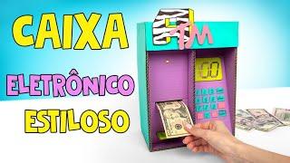 Caixa Eletrônico Estiloso DIY com Dinheiro!❤️💰✨
