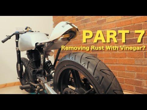 Honda CB125 Cafe Racer Build - Part 7 - Rusty Tank Clean & Seat Work
