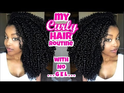 My Curly Hair Routine w/ NO Gel!!
