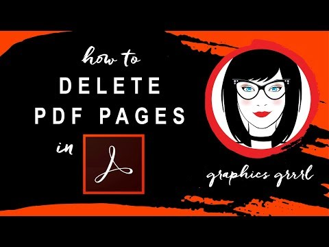 How to delete PDF pages in Acrobat Pro!
