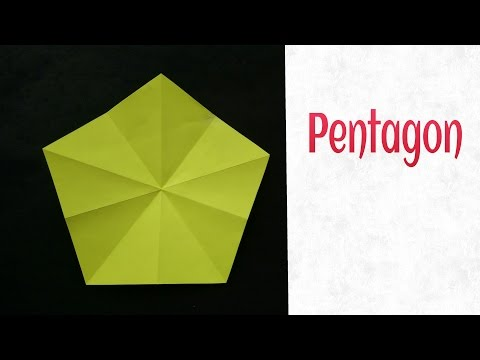 How to make Pentagon from a Square sheet !!